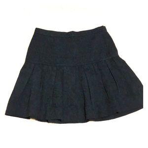 J.CREW Dark blue woven mini skirt
